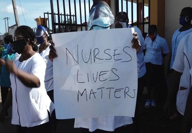 Nurses protest, nurses' strike