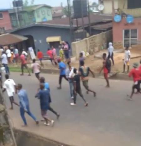 Edo youths invade warehouse