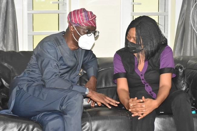 Sanwo-Olu pays condolence visit to Odumakin's wife