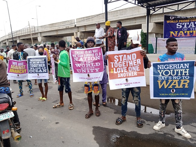 Yoruba group protests against secession