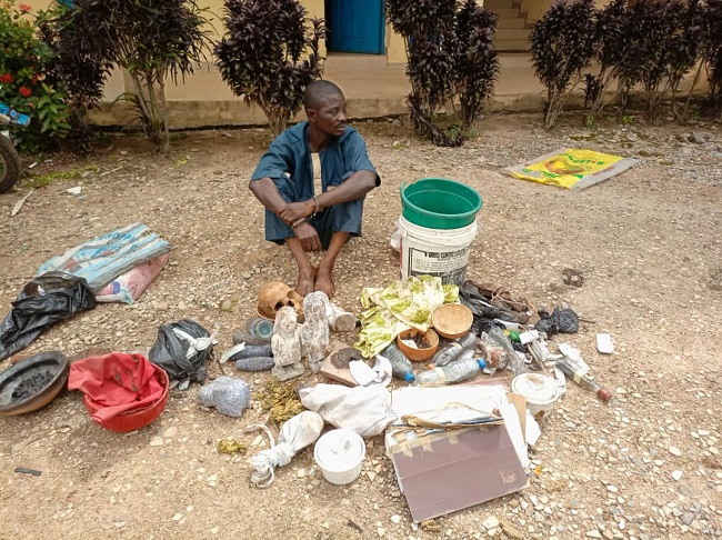 Suspected ritualist others paraded