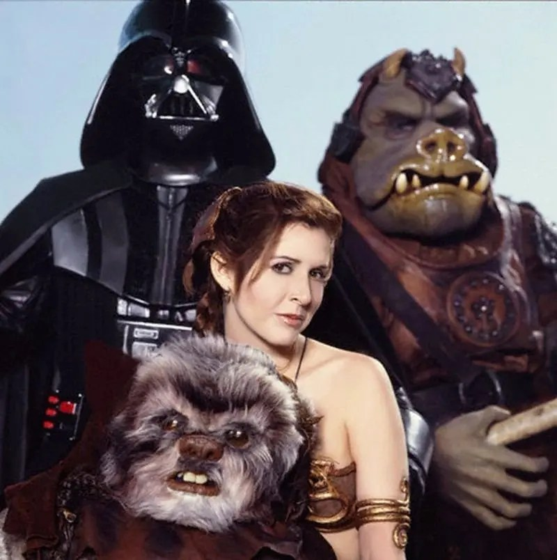 Slave Leia Photo - 1983 Return of the Jedi Promotional Photo - Rolling Stone Magazine