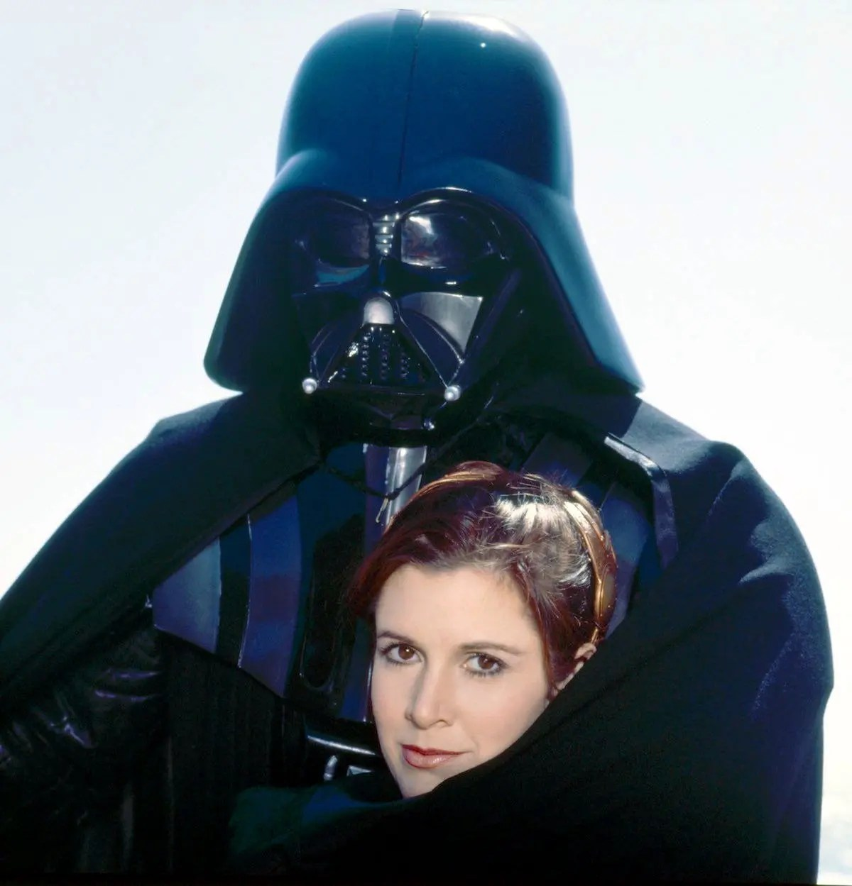 Cool Old Photo - Darth Vader with Princess Leia - 1983