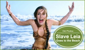 Cool Old Photos – Carrie Fisher in Star Wars Slave Leia Bikini