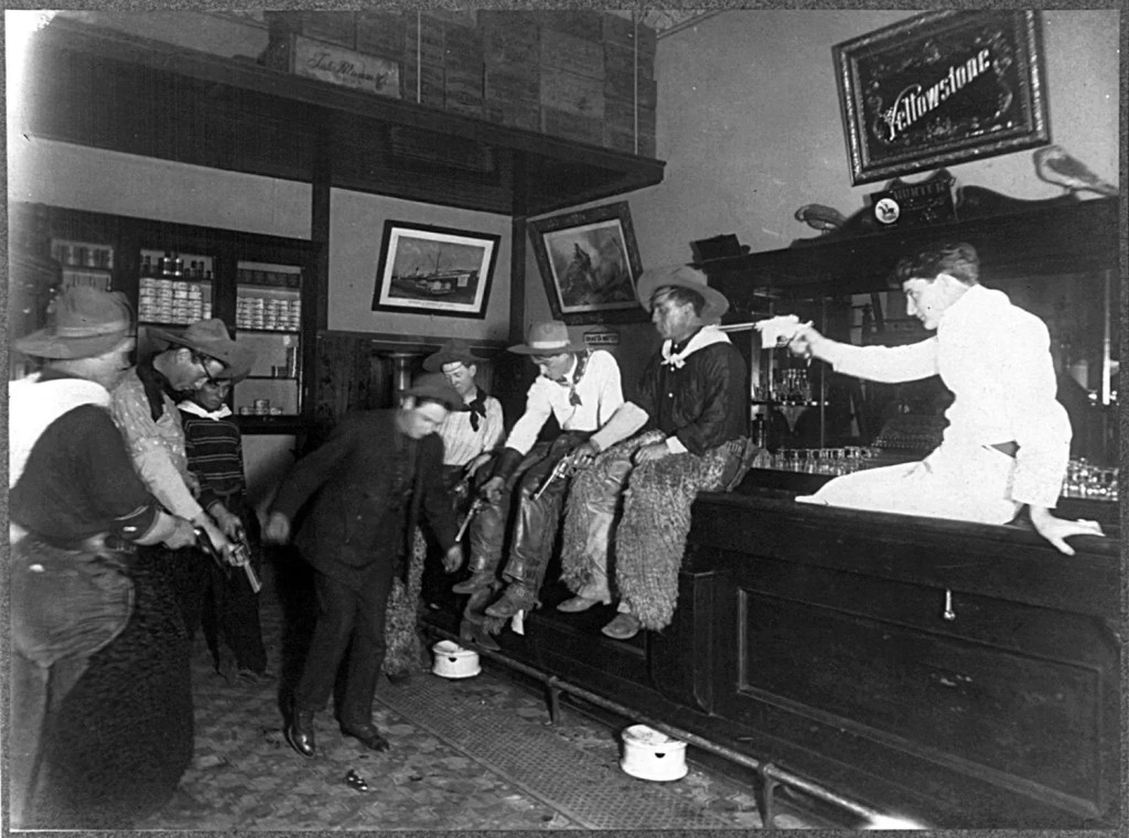 Old Photos - Historic Bars - Making a Tenderfoot Dance