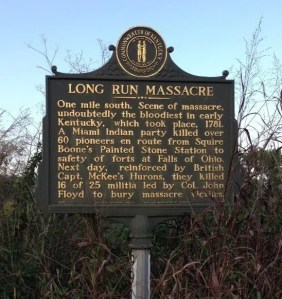 Long Run Massacre - Historical Marker - Louisville Kentucky