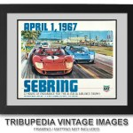 1967 Sebring Race Poster Print – Ford GT40 Cars