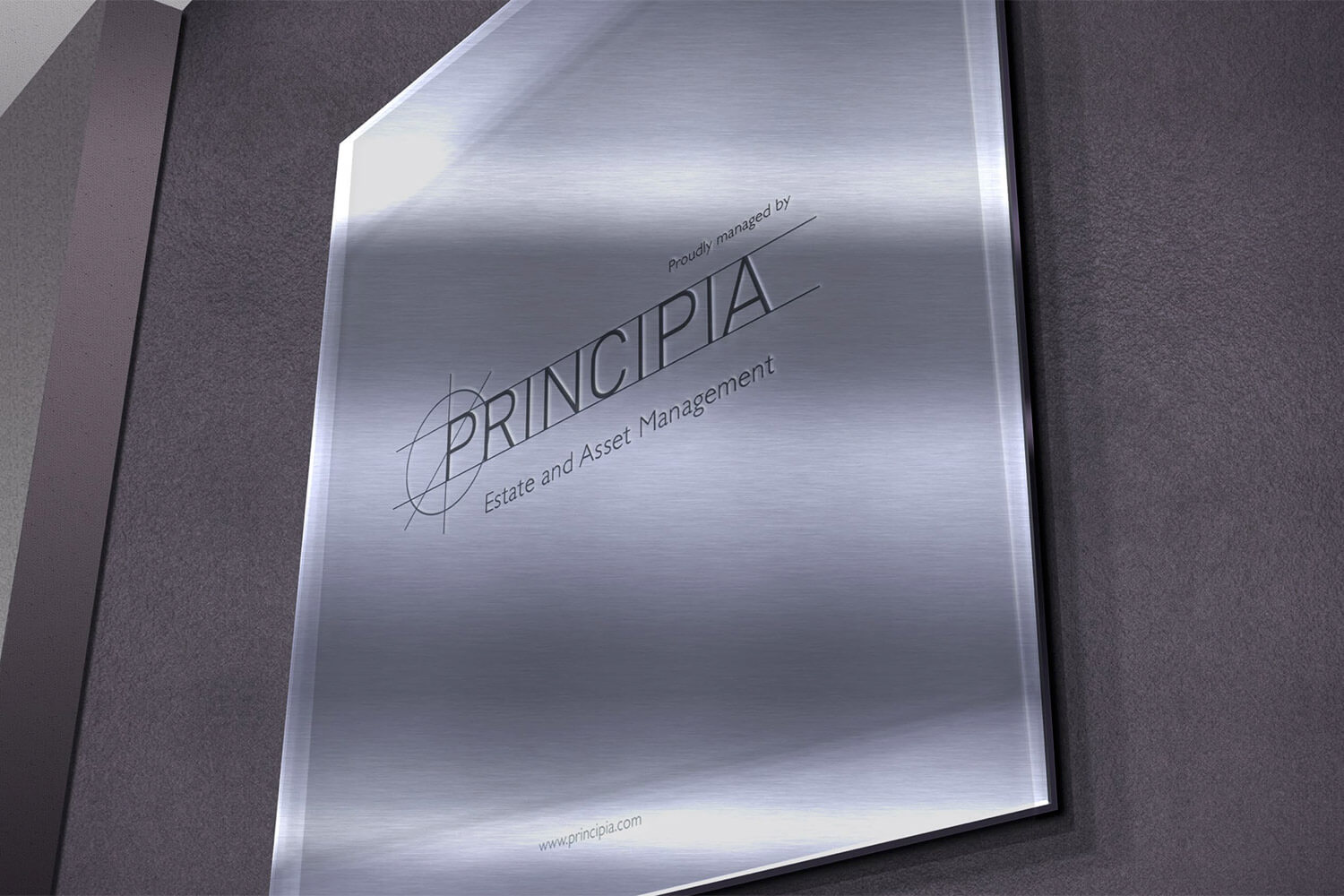 A mockup of the design for the plaques to be erected in Principia managed buildings
