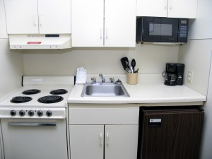 tiny apartment kitchen