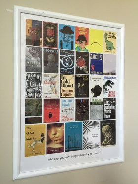 New addition this year: a poster of interesting book cover designs I made