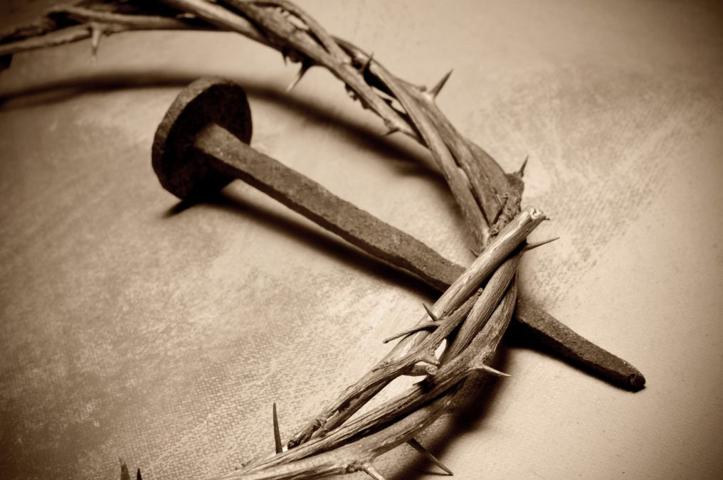 closeup of a representation of the Jesus Christ crown of thorns
