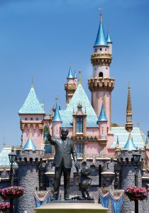 Monument To Walt Disney And Mickey Mouse In Disneyland Californi