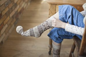 The woman who wears socks