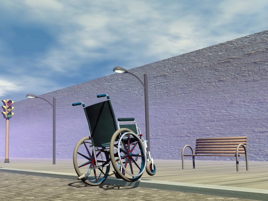 Obstacle for wheelchair – 3D render