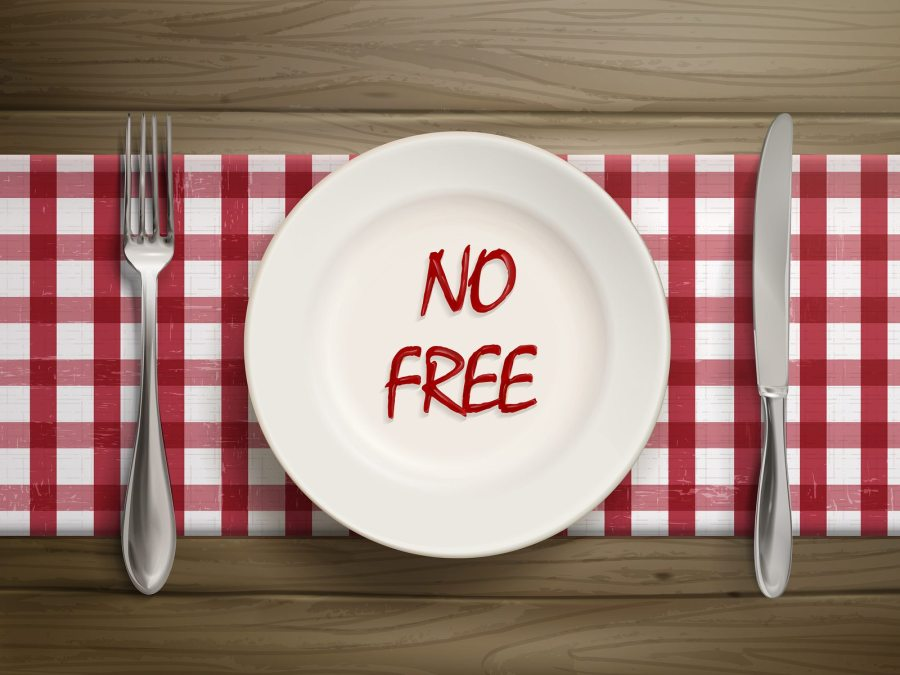 No Free Written By Ketchup On A Plate