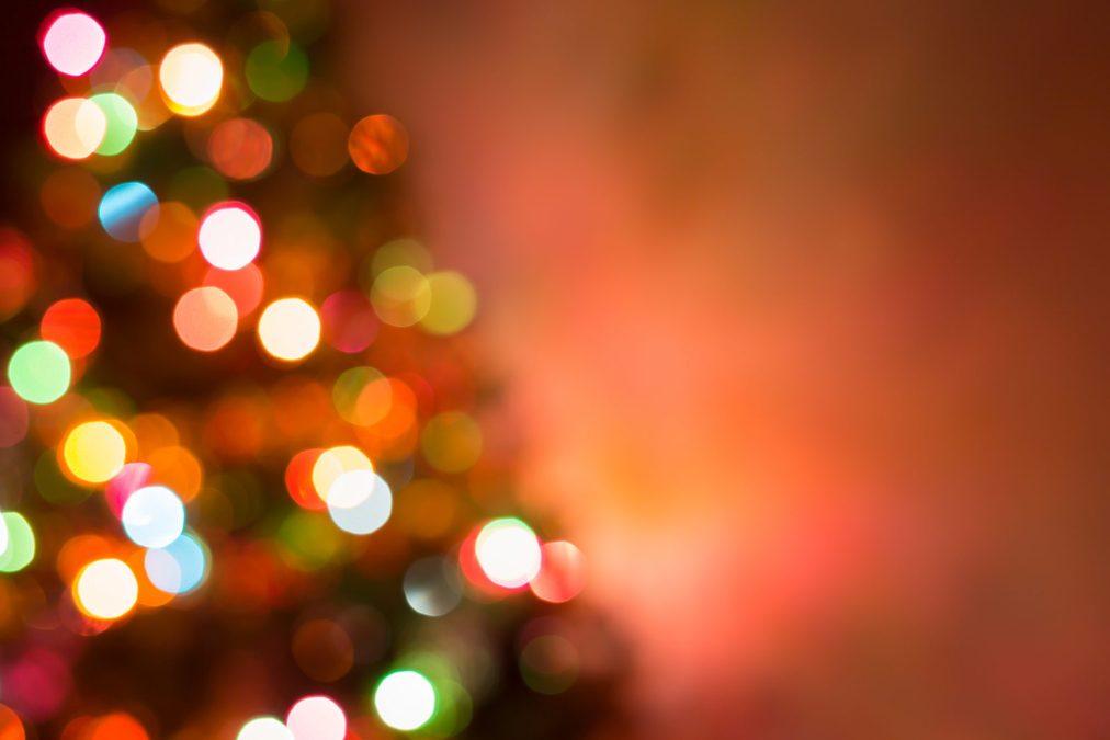 Christmas Background, Image Blur Colorful Bokeh Defocused Lights