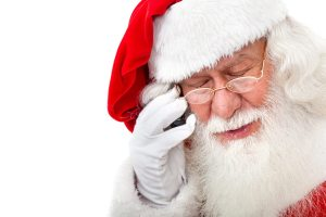 Santa Talking On The Phone