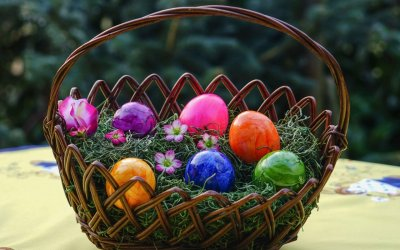 Easter Baskets.  I Can Talk About It Now.
