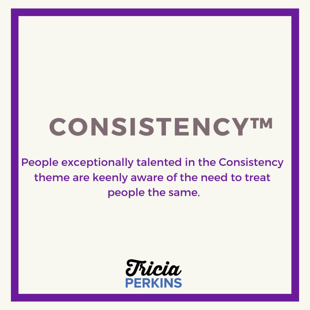 Gallup Consistency Theme Card