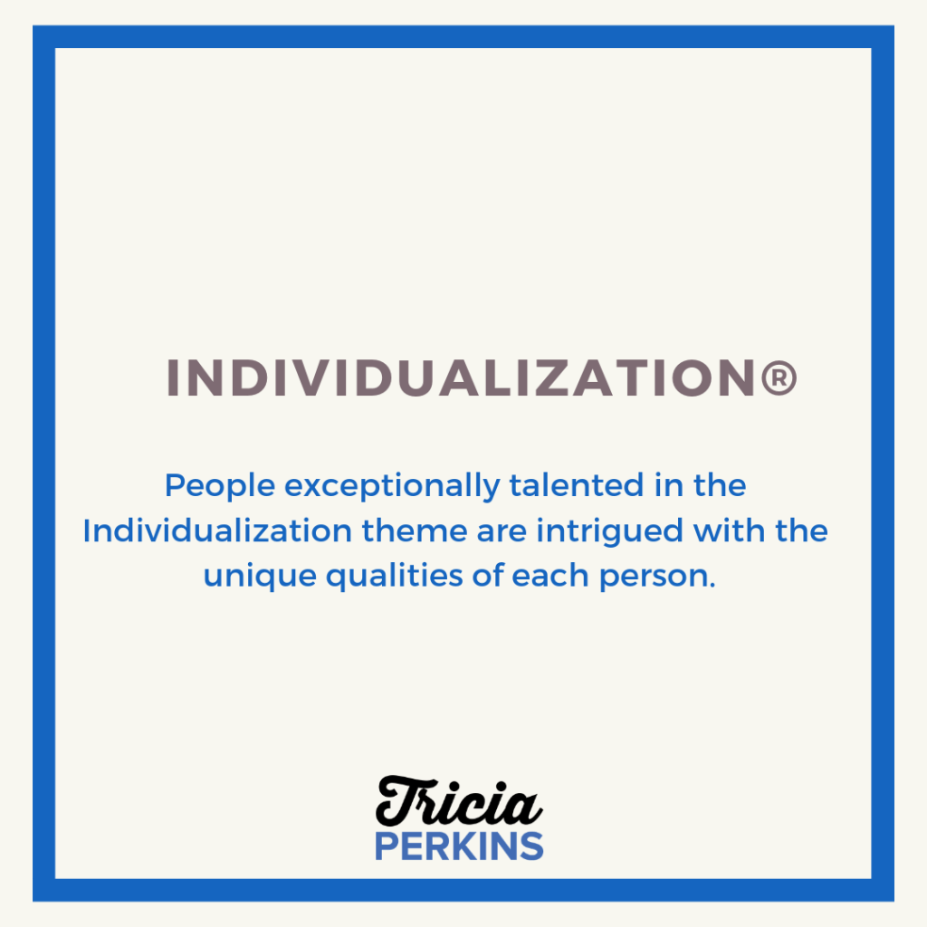 Gallup Individualization Theme Card