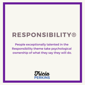 Gallup Responsibility Theme Card