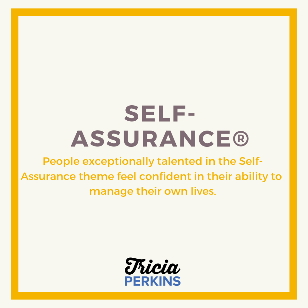 Gallup Self-Assurance Theme Card