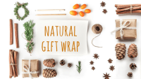 Green Living – 4 Natural Gift Wrap Ideas! #OneWithNature #GoGreen