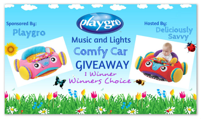 Blogger Opp: Playgro Music and Lights Comfy Car Giveaway!