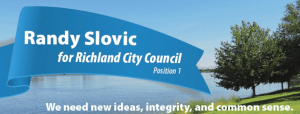 Randy Slovic for City Council banner