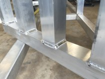 Weld Detail Of A Pit Cart