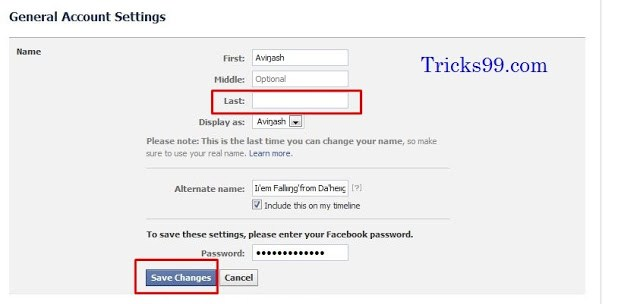 How To Make Single Name Account on Facebook ? or How To Hide Last Name on Facebook ? ?