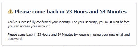 How to Recover a Hacked Facebook Account - email-confirmation-24 hrs