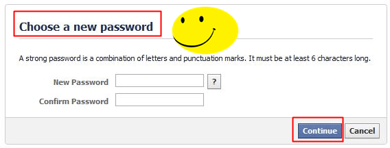 How to Recover a Hacked Facebook Account - new password