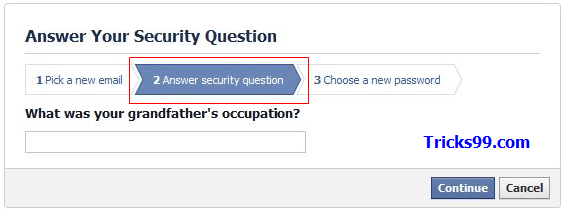 How to Recover a Hacked Facebook Account - security questn