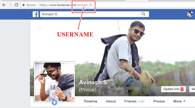 FACEBOOK - username