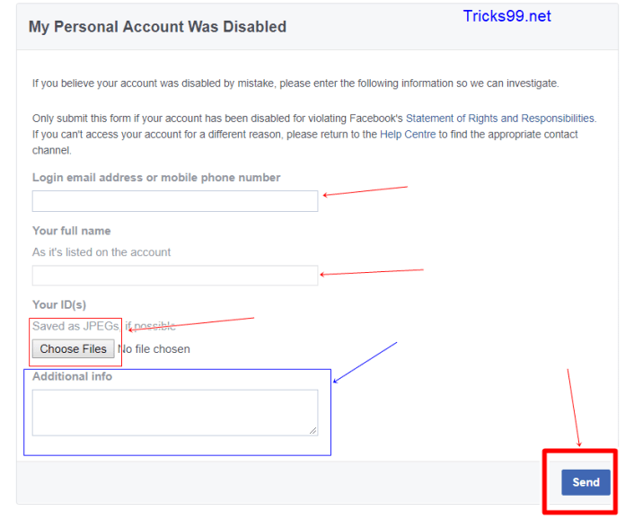 facebook-account-disable-form