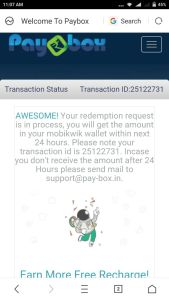 Paybox mobikwik proof
