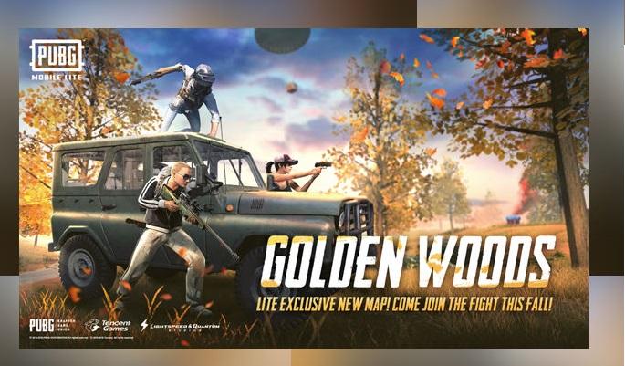 The Golden Woods map in PUBG Lite