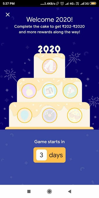 google pay complete the cake offer