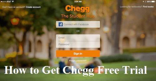 Chegg Free Trial Account