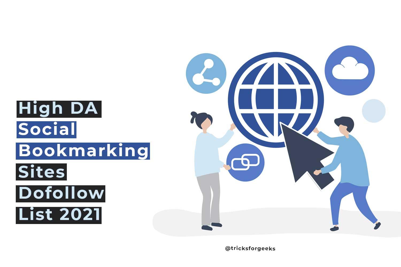 High DA Social Bookmarking Sites