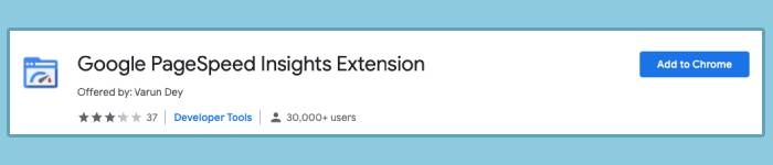 Google PageSpeed Insights Extension