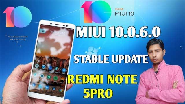 redmi note 5 pro miui 10.0.6.0 features   रेडमी मोबाइल  न्यू अपडेट