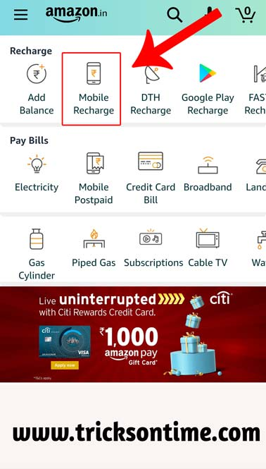 amazon pay mobile recharge