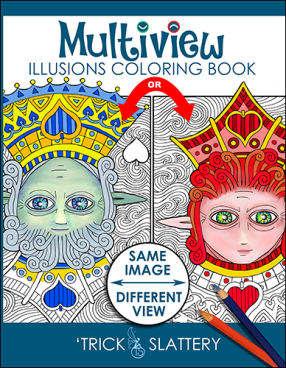 Multiview Illusions Coloring Book