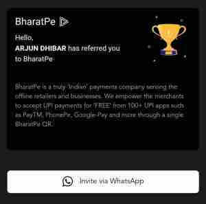 Bharat Pe App Refer and Earn Offer
