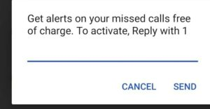 Free Airtel Missed Call Alerts Service