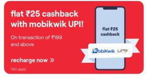 Vi App Mobile Recharge Cashback Offer