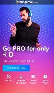 {100%} Hungama Premium Music Free - 100 Days Active
