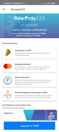 Airtel Rewards 123 Offer